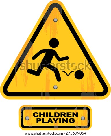 children playing  sign , vector illustration - stock vector