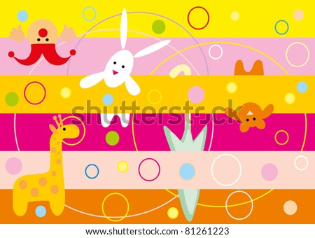 Children's background - stock vector