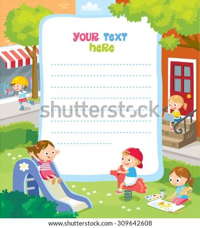 children's design - stock vector