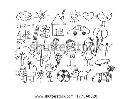childrens drawings idea design - Picture For Drawing For Children