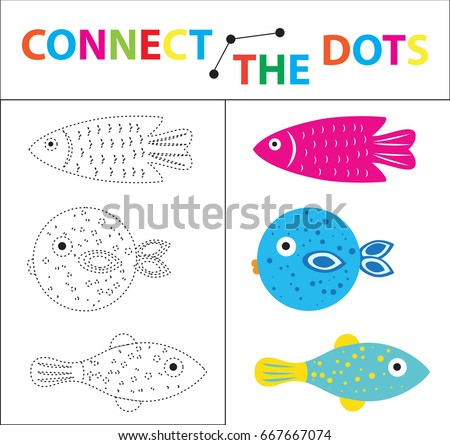Coloring Page Vector Illustration Childrens Educational Game For Motor Skills Connect The Dots Picture Children Of Preschool