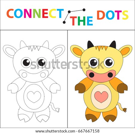 Childrens Educational Game For Motor Skills Connect The Dots Picture Children Of Preschool