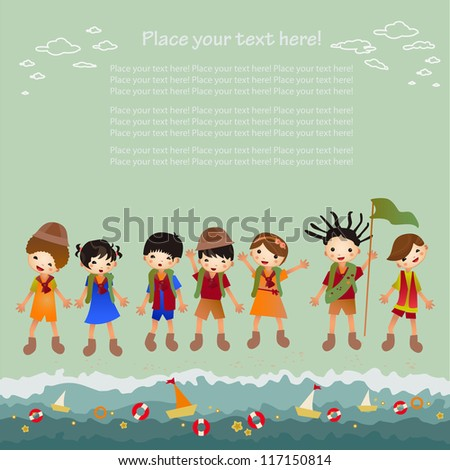 Children's holiday. Background - stock vector