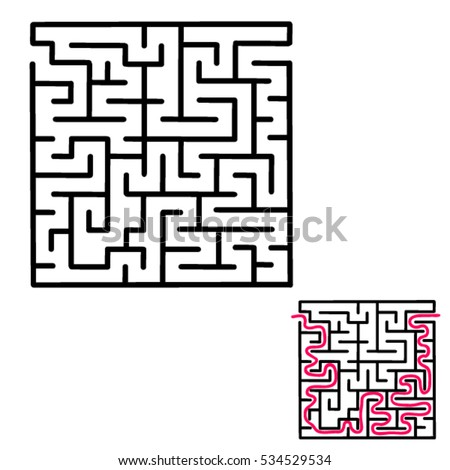 children's maze game with an answer