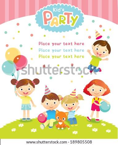 children's party - stock vector