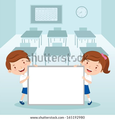 Children's presentation - stock vector