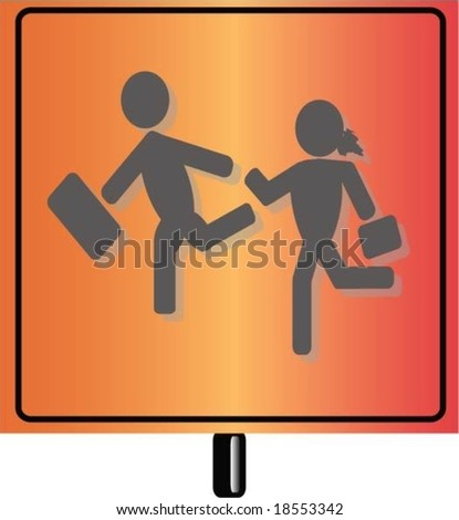 children school - stock vector