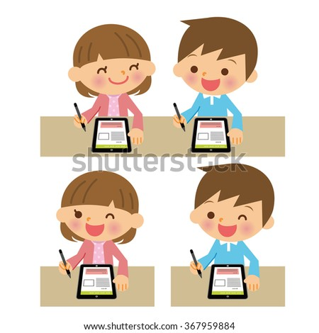 Children that use the tablet.
