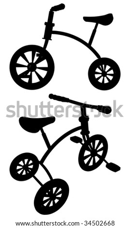 Children Tricycle Vector 01