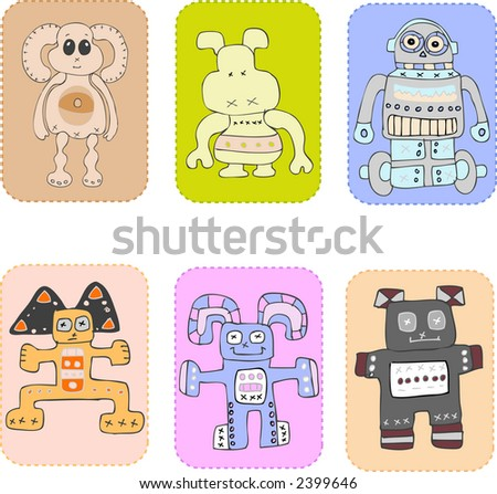 childrens toys - stock vector