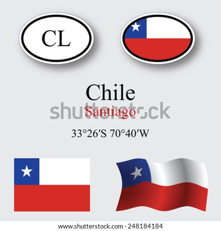chile icons set against gray background, abstract vector art illustration, image contains transparency - stock vector