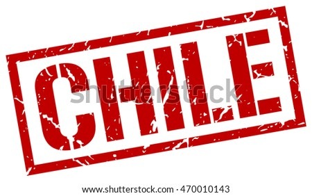 Chile stamp. red square Chile grunge stamp on white background. Chile