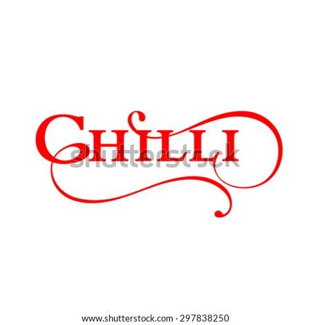 Chilli logo design - stock vector