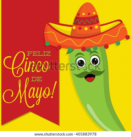 Chilli pepper character sash card in vector format. - stock vector