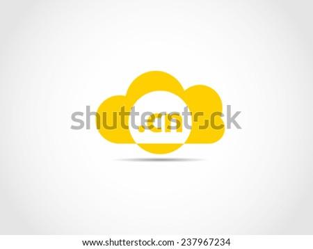 China Cloud Domain Server - stock vector