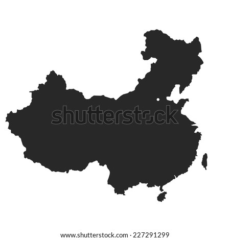 China Map Vector Stock Vector 227291299 Shutterstock