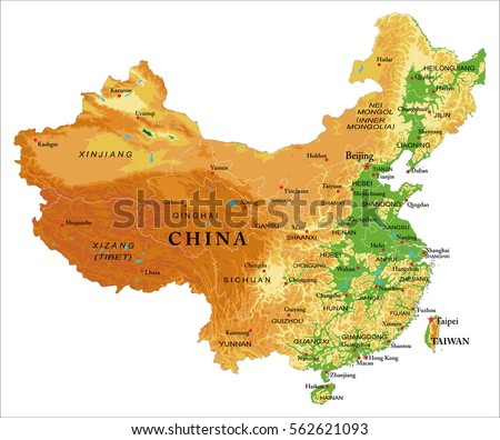 China relief map stock vector 562621093 shutterstock china relief map gumiabroncs Images