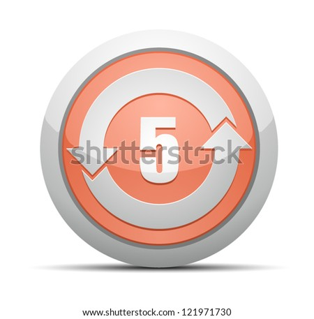 China RoHS Label EPUP 5 - stock vector