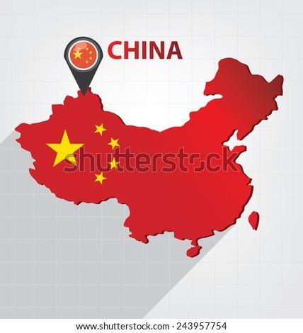 China vector - stock vector
