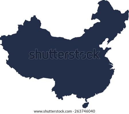 China Vector map. High detailed.  - stock vector