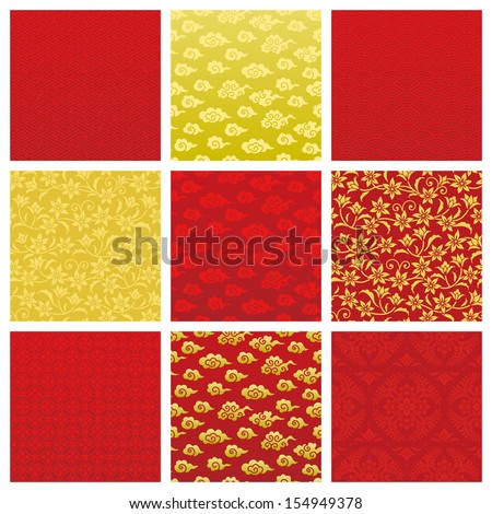 Chinese backgrounds - stock vector