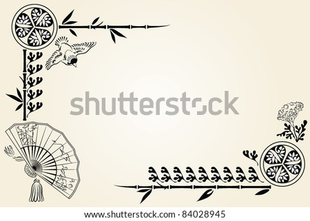 chinese card - stock vector