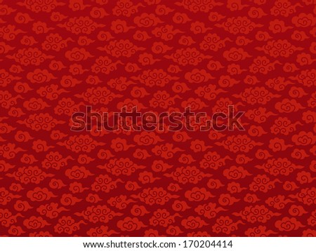 Chinese cloud seamless background. - stock vector