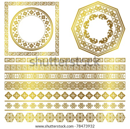 Chinese decorative frame collection - stock vector