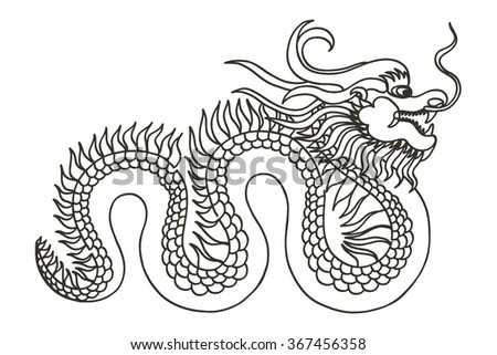 Chinese Dragon. Asia.