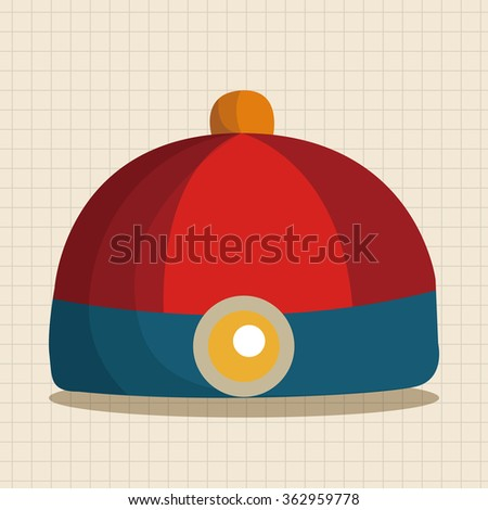 Chinese hat theme elements - stock vector