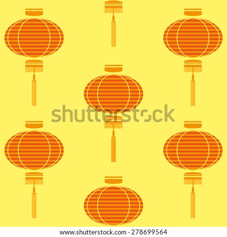 chinese lamp pattern - stock vector
