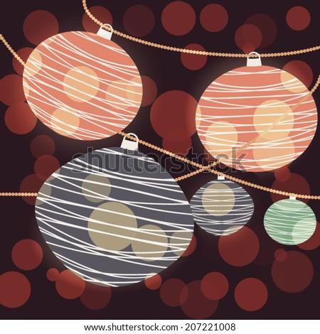 Chinese Lantern Background - stock vector