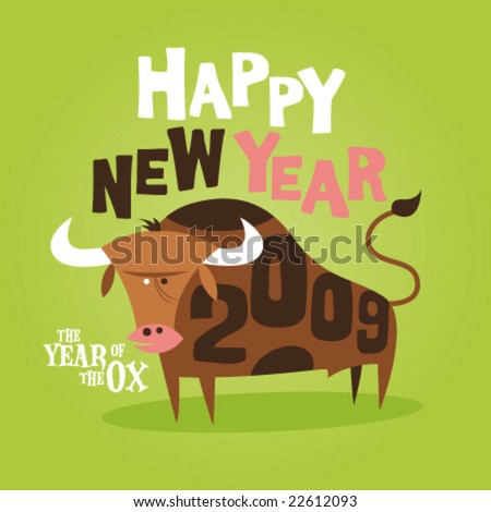 chinese new year of the ox greeting card 2009 - Chinese New Year 2009
