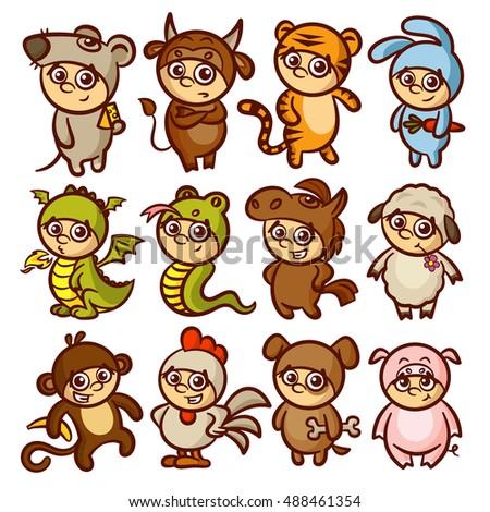 Chinese New Year Zodiac Animal Horoscope Kids