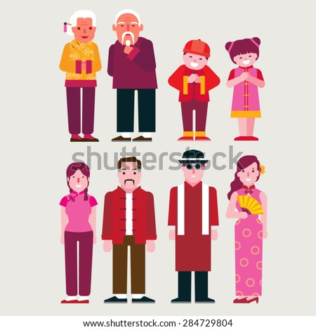 Old Chinese Man Stock Vectors & Vector Clip Art | Shutterstock
