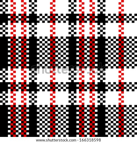 Chinese plastic plaid checker bag in black and white seamless pattern, vector - stock vector