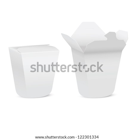 Chinese take-out box isolated on white background - stock vector