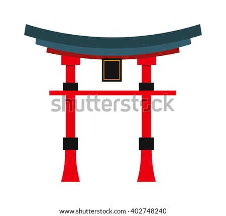 Chinese temple asia culture architecture and travel ancient building chinese temple. Chinese famous old structure temple, chinese religion. Beautiful china travel landmarks chinese temple vector.  - stock vector