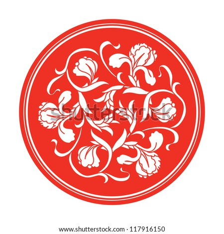 Chinese traditional floral ornament - stock vector
