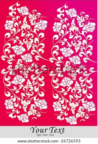 Chinese traditional style of floral ornament.