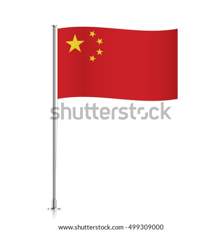 waving chinese flag high mast vector stock vector 667114444, Powerpoint templates