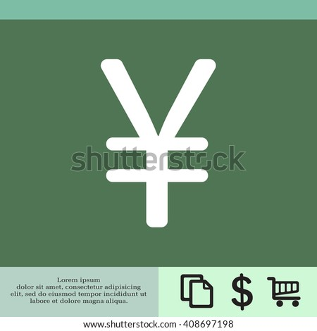 Chinese yuan icon. Vector illustration.