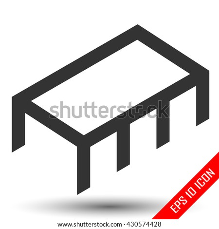 Chip icon, Simple flat chip illustration isolated on white background. Vector illustration - stock vector
