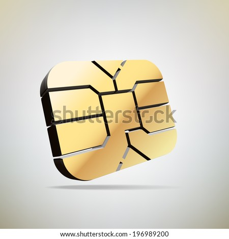 chip of sim card, Vector graphic - stock vector