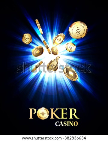 Chips, the concept of a casino. - stock vector