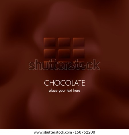 chocolate background - stock vector