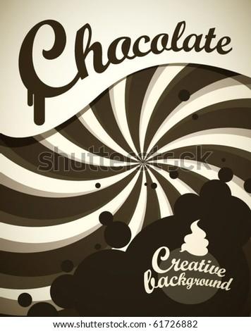 Chocolate background - stock vector