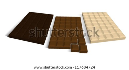 Chocolate bar - stock vector