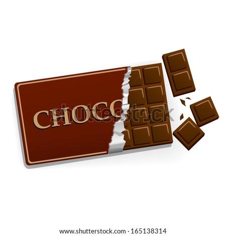 chocolate bar - stock vector