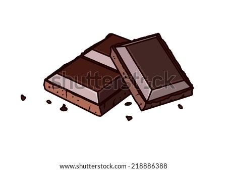 Chocolate bars - stock vector